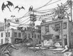 Terre Haute in the 1940s, Overrun by Monsters by Dan-Moran