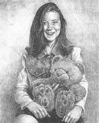 Girl with Teddy Bear by Dan-Moran