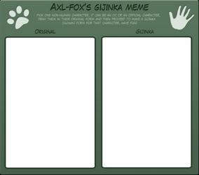 Axl-fox's gijinka meme