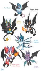 Swoobat variants by Axl-fox