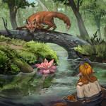 Fox  and mermaid