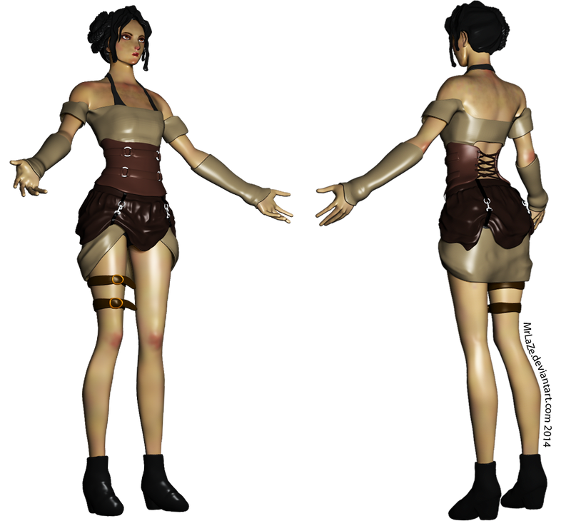 Steampunk Lady: Ingrid (Full Body) by MrLaZe