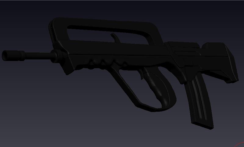 FAMAS-g2 3D (wip) by MrLaZe
