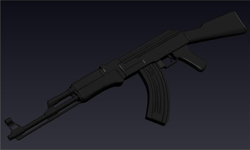 AK-47 zbrush by MrLaZe