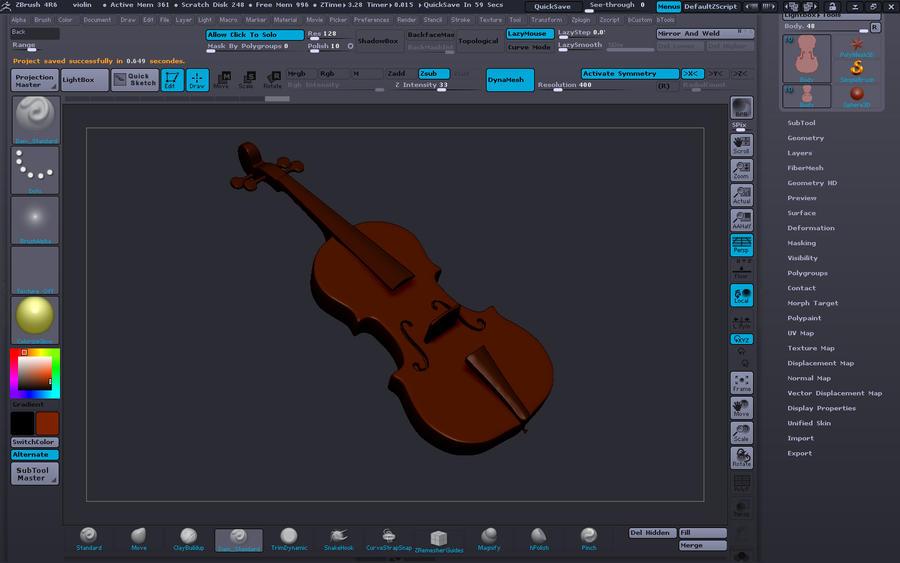 violin (screenshot) by MrLaZe