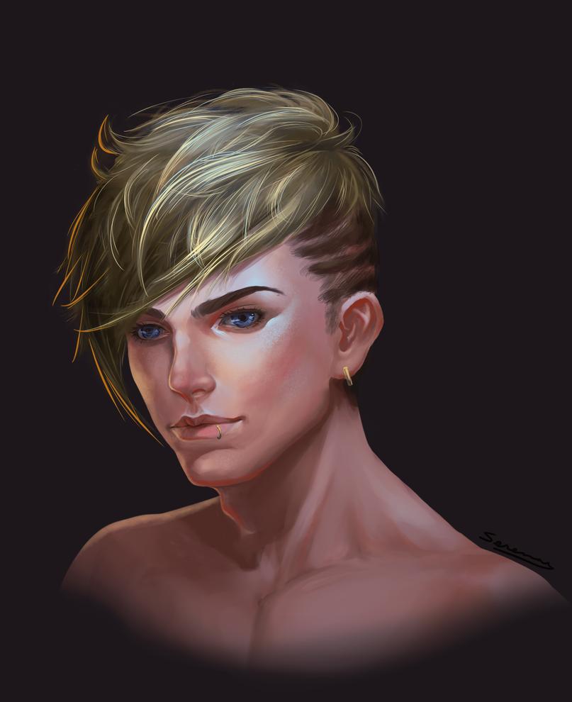 Male Portrait by crystalwings6