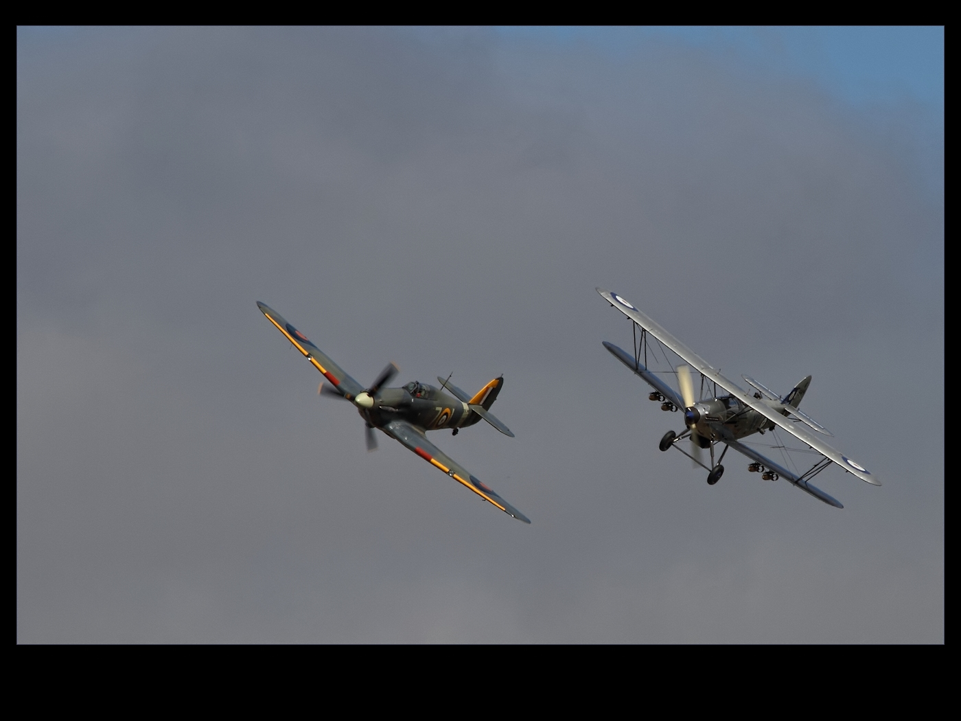Hawker Sea Hurricane and Hawker Hind by Bogbrush