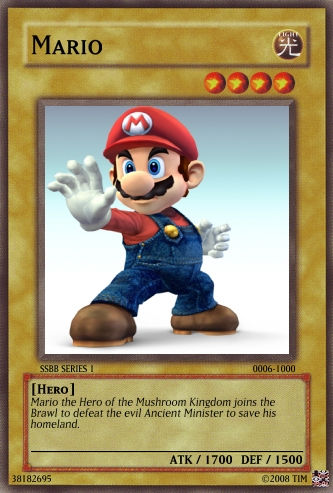 Mario Card 6 SSBB SERIES 1 by The-not-Mario-guy