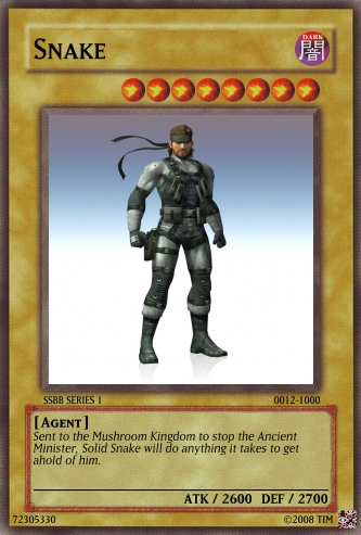 Solid Snake Card 12 SSBB S1 by The-not-Mario-guy