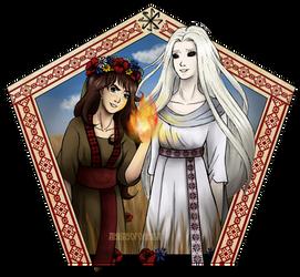 Slava and Milena by AishaSofonisba
