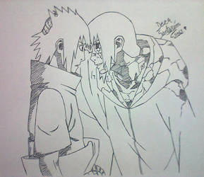 Uchiha Sasuke and Itachi... Sad.
