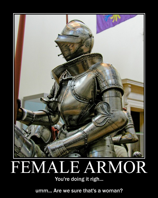 Think, Fantasy female armor meme