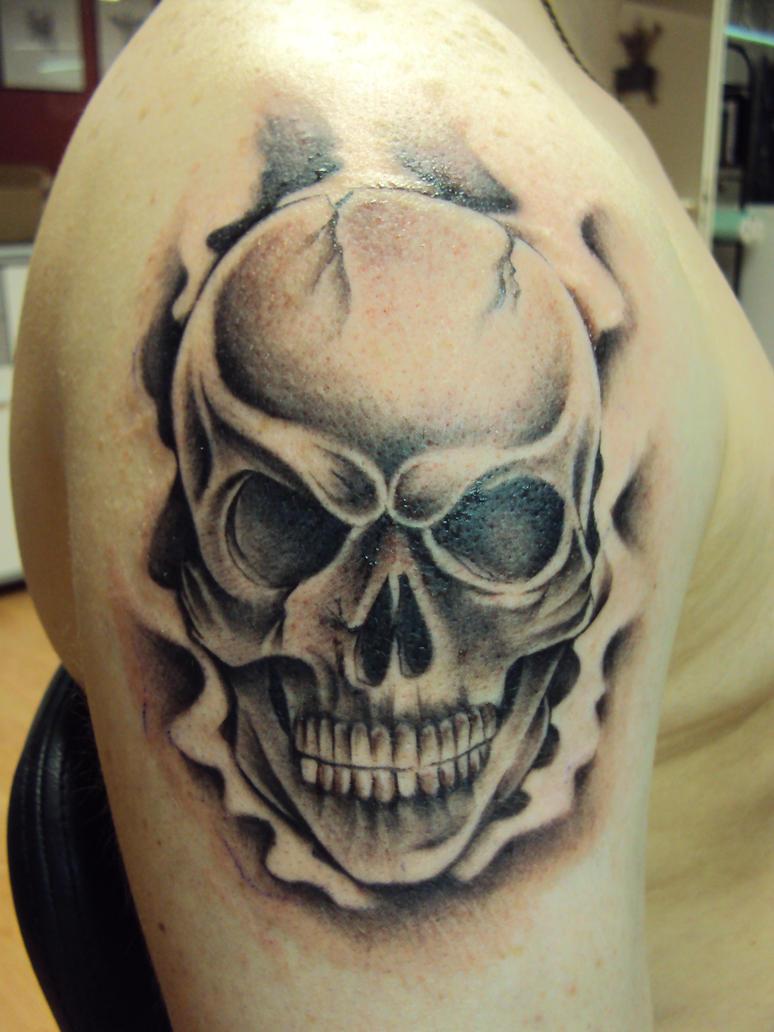 Skull Tattoo by crowcnil on DeviantArt