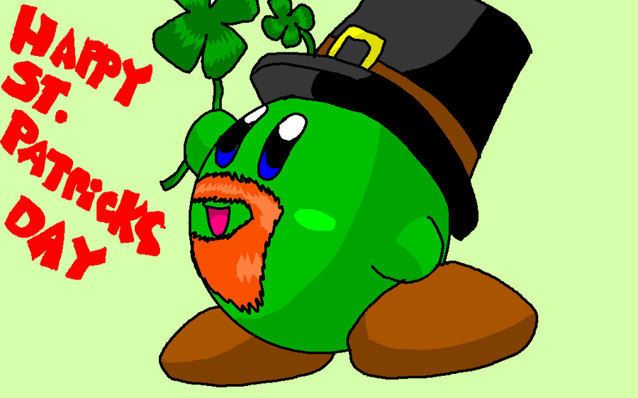 Happy St. Patricks Day 'kirby' by Rotommowtom
