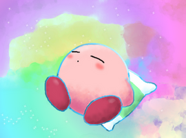 Kirby (Mario and Luigi Dream Team Style) by Rotommowtom