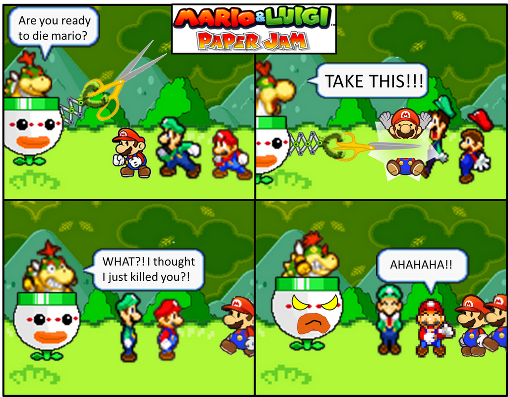 Mario And Luigi Paper Jam Papercut By Rotommowtom On Deviantart