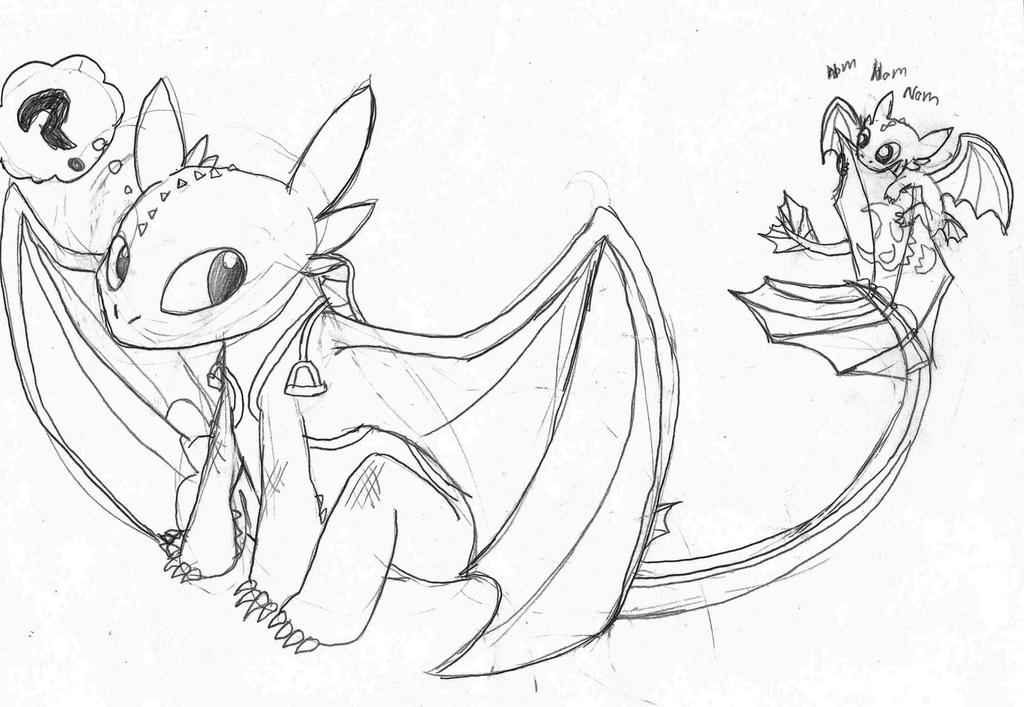 Toothless and Baby Night Fury by