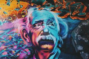 albert einstein graffiti art