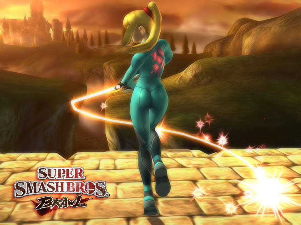 Samus Wallpaper Smash bros by o0ghost0o