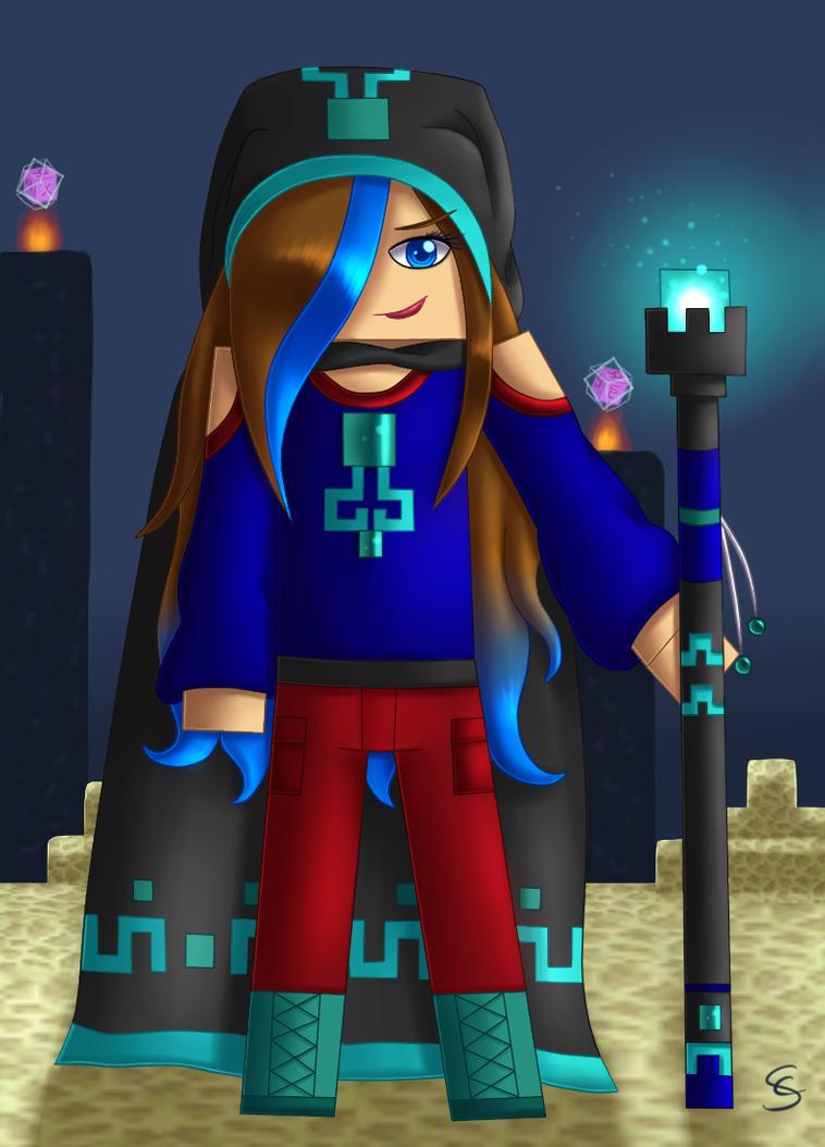 Noob Mage By Joshcorpuz85 Female Druid Witch Sorceress: My Minecraft Char Mage Version By DivLight On DeviantArt