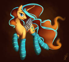 Turquoise socks by DivLight