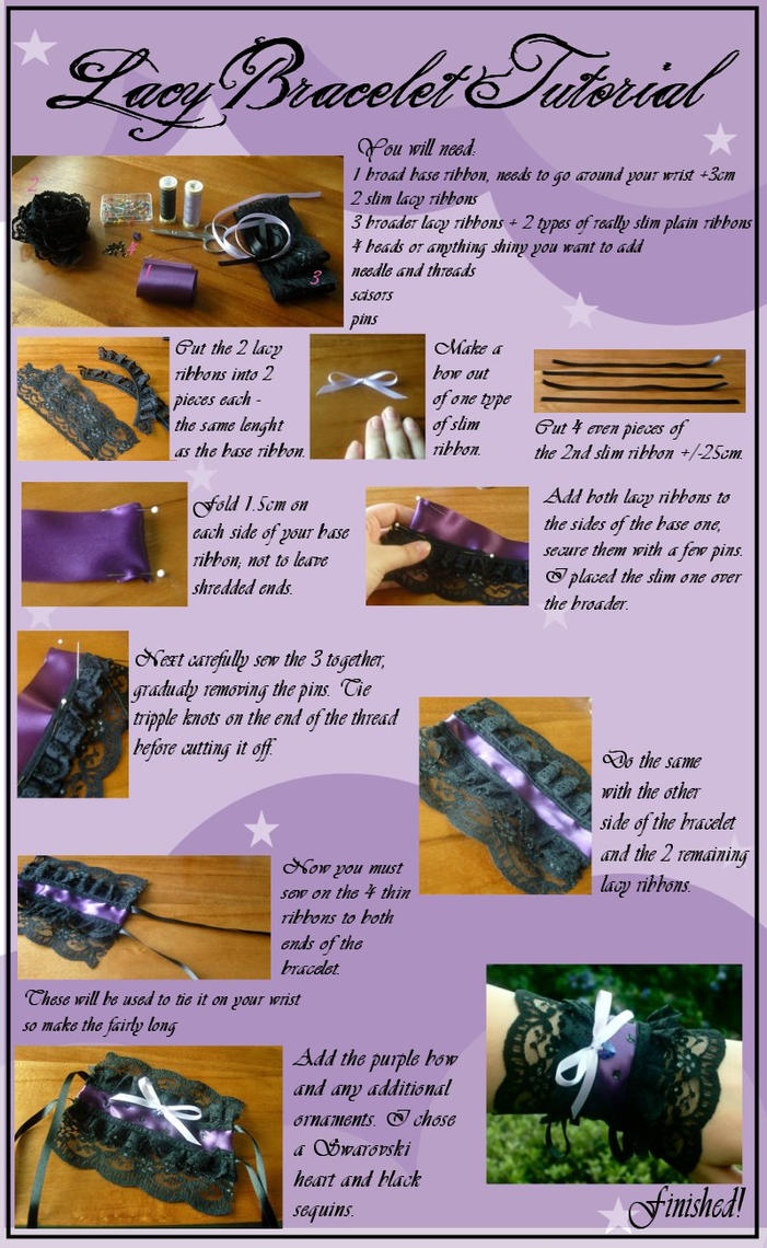 Sila's Lacy Bracelet Tutorial by Silatham
