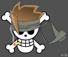 Solid snake Jolly Roger by juju67