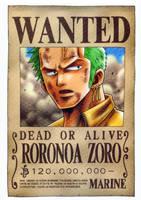 Zoro wanted by juju67