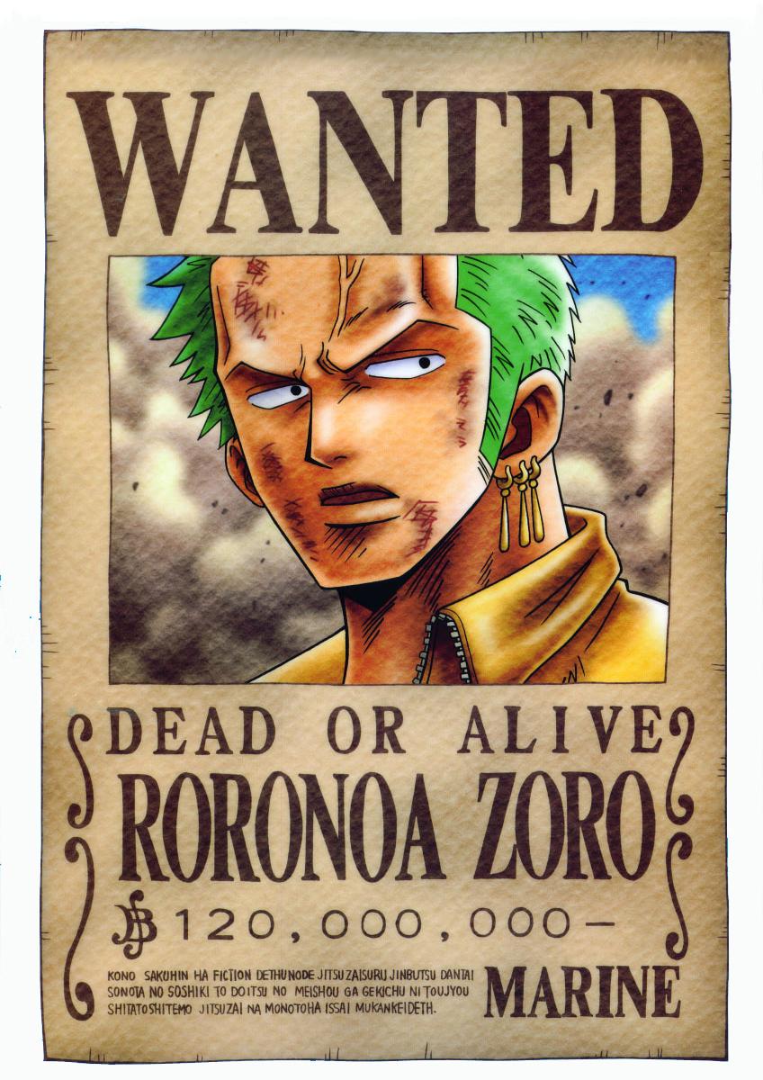 Capitain de l   233 quipage de chapeau de pailleOne Piece Luffy Wanted Posters