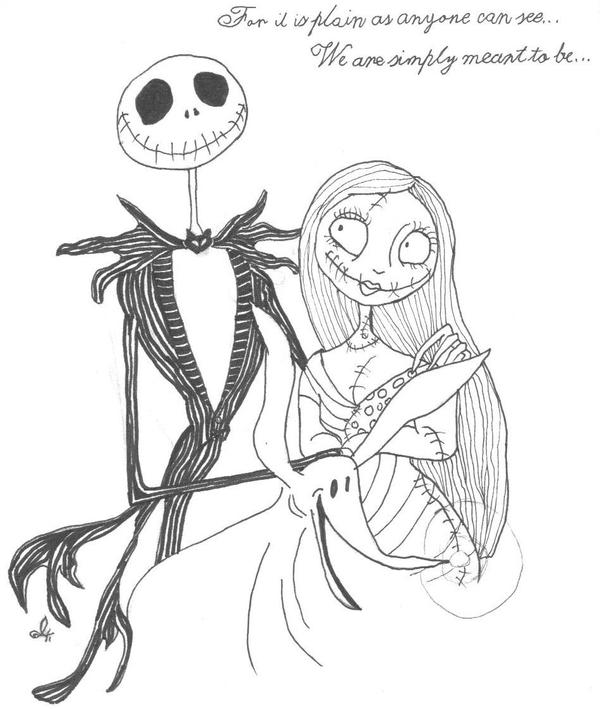 Coloring pages jack and sally