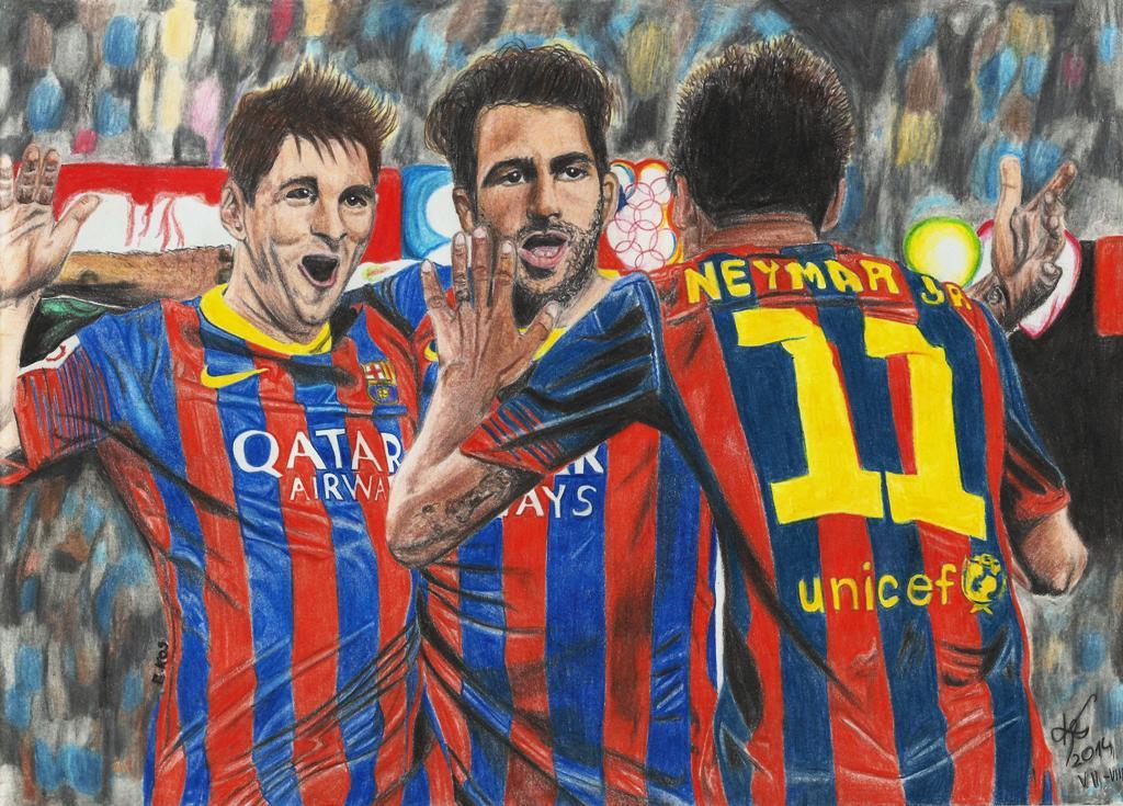 Messi - Fabregas - Neymar by kosikkkk