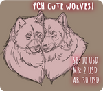 [CLOSED] YCH Cute wolves