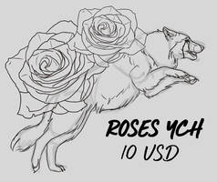[YCH OPEN 1/3] ROSES CANINE 10$ SLOT by T4IRO