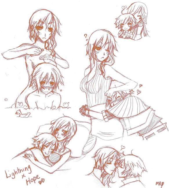 Lightning x Hope Sketches by Chiyoyo