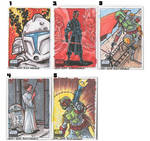 Star Wars Sketch Cards by johnraygun