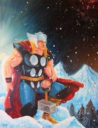 Thor Painting by johnraygun