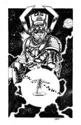 Galactus and Silver Surfer by johnraygun