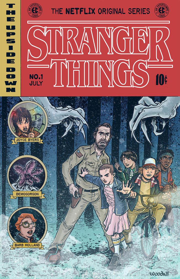Stranger Things EC Comics Cover by johnraygun