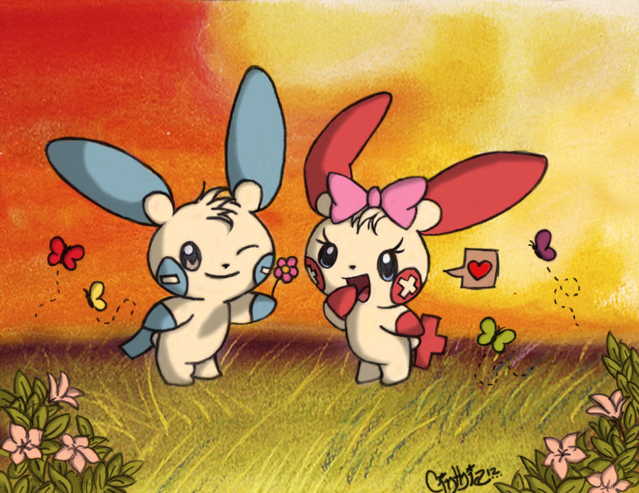 Plusle And Minun Wallpaper Plusle and Minun Color...