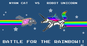Nyan Cat Vs Robot Unicorn