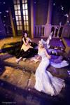 Queen Serenity and Luna