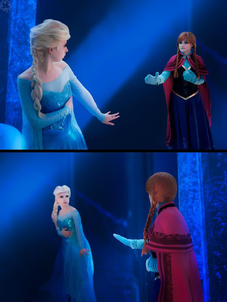 Elsa and Anna by Likanda