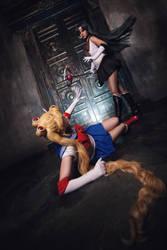 Sailor Moon and Sailor Pluto by Likanda
