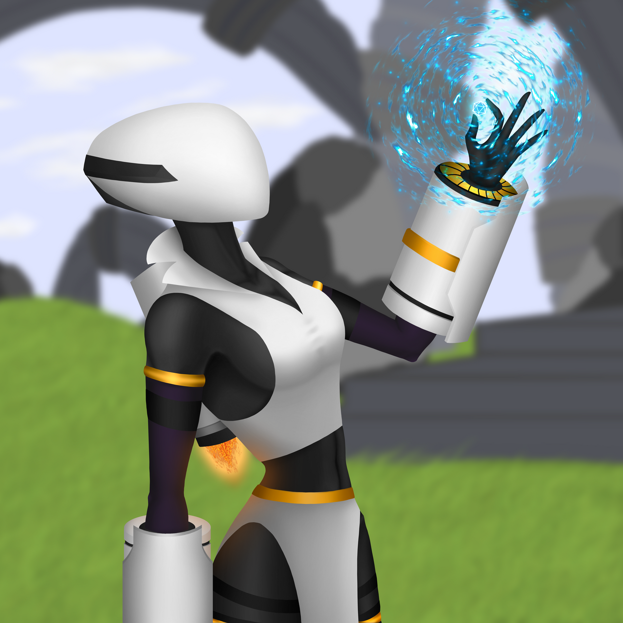 Risk Of Rain 2 Artificer By Rambit23z On Deviantart While she is a simple survivor, she tests the players mechanical limits: risk of rain 2 artificer by rambit23z