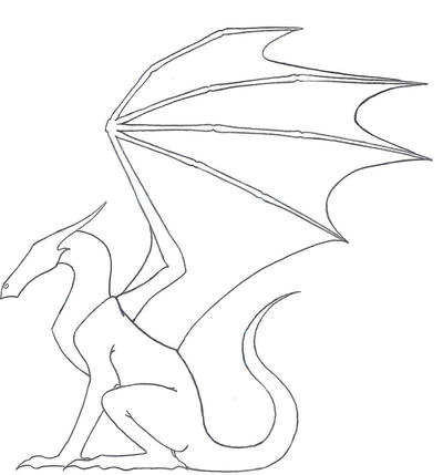 dragon outline by ketharin - Dragon Outline
