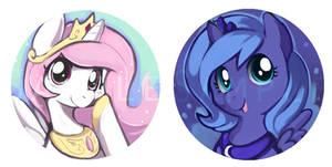 Princess celestia and luna fillies
