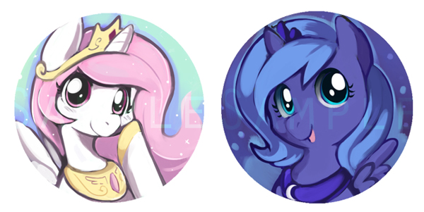 Princess celestia and luna fillies by Ende26