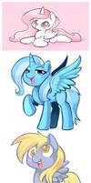 Pony Doodles by Zwagyzonk