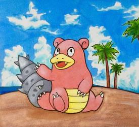 Slowbro Pokemon by ShrimpChipSensei