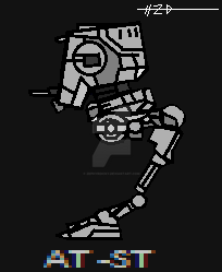 AT-ST Pixel Art by ZEPHYRDICKY